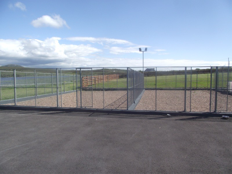 Outside exercise area at Lakeside Kennels & Cattery, Dungloe, Co. Donegal, Ireland